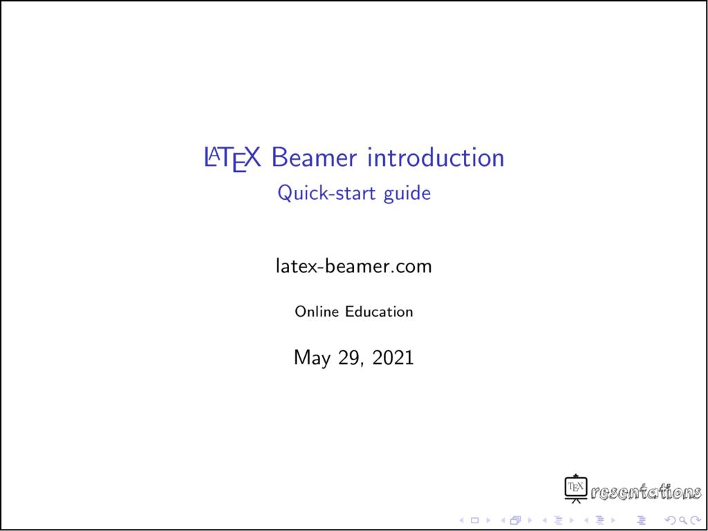 Add image logo to beamer presentations