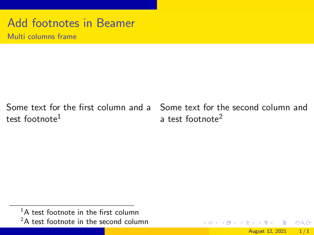 How-to-display-a-footnote-along-all-the-slide-while-using-columns