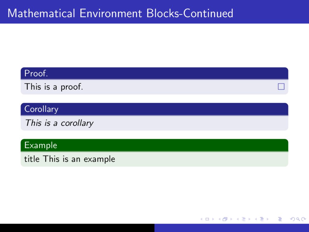 Math blocks in Beamer 2