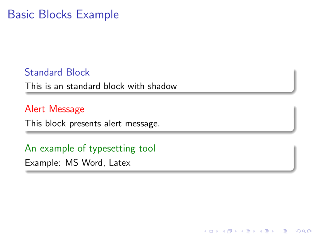 Shading and rounded corners blocks in beamer