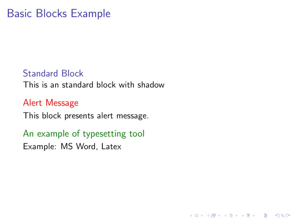 Default style for blocks in Beamer